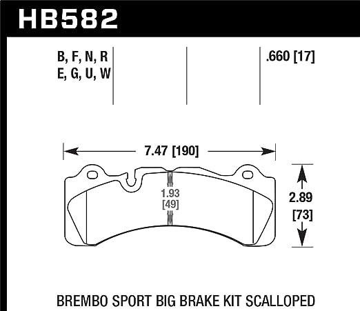 Hawk Performance HB582F.660 HPS Performance Ceramic Brake Pad