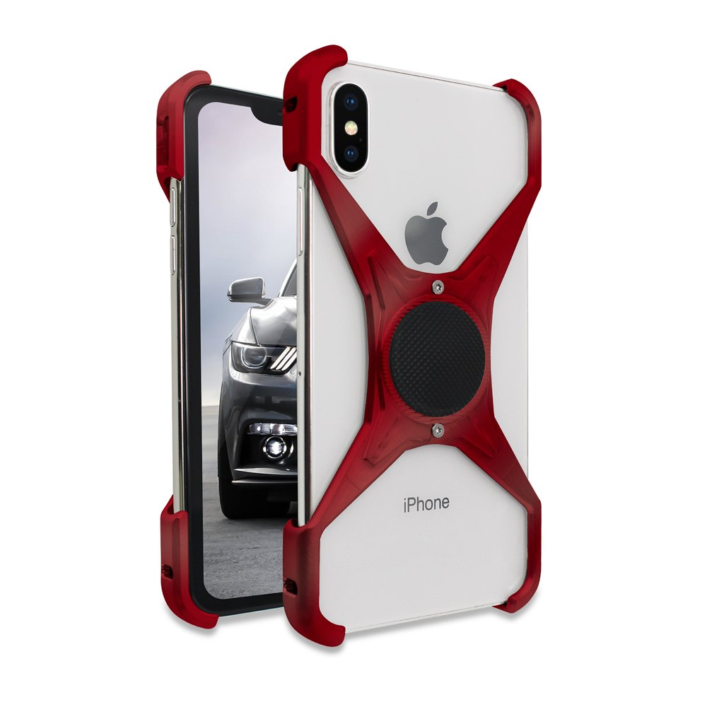 Rokform Predator [iPhone X/XS] Slim Aerospace Aluminum Minimalist Magnetic Case (Red) by Rokform (Image #1)