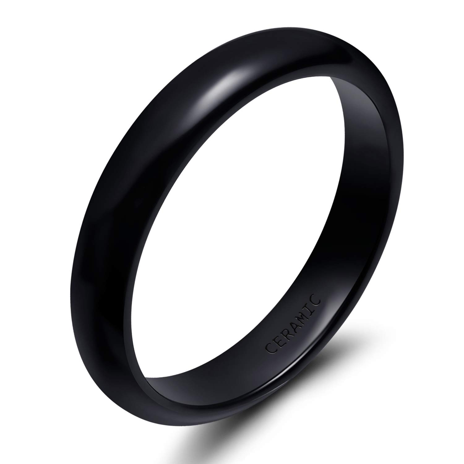 6mm,16 Kingary 4mm 6mm 8mm Tungsten Couple Wedding Bands Rings Men Women Domed Size 3.5 to 17