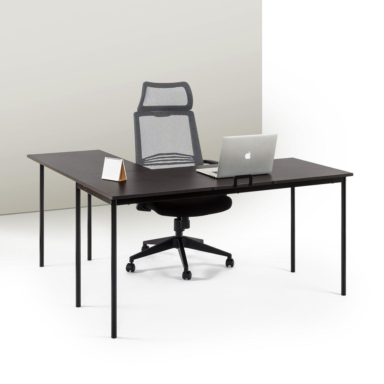 Zinus Dominic L-Shaped Corner Desk in Espresso