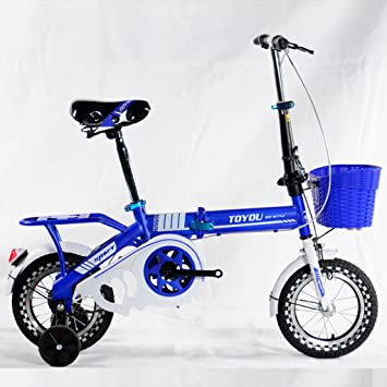 Bicicleta de los niños, coche plegable 16 pulgadas 6-8-10-12