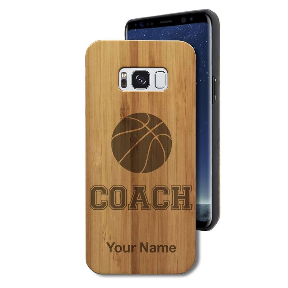 Bamboo Case for Galaxy S8+ PLUS - Basketball Coach - Personalized Engraving Included