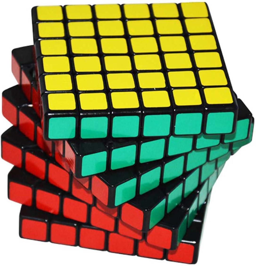 MFJS 2x2x2 /à 11x11x11 Cube Magique La Vitesse Cube Puzzle Jouets /éducatifs Autocollant Fond Noir 10x10x10
