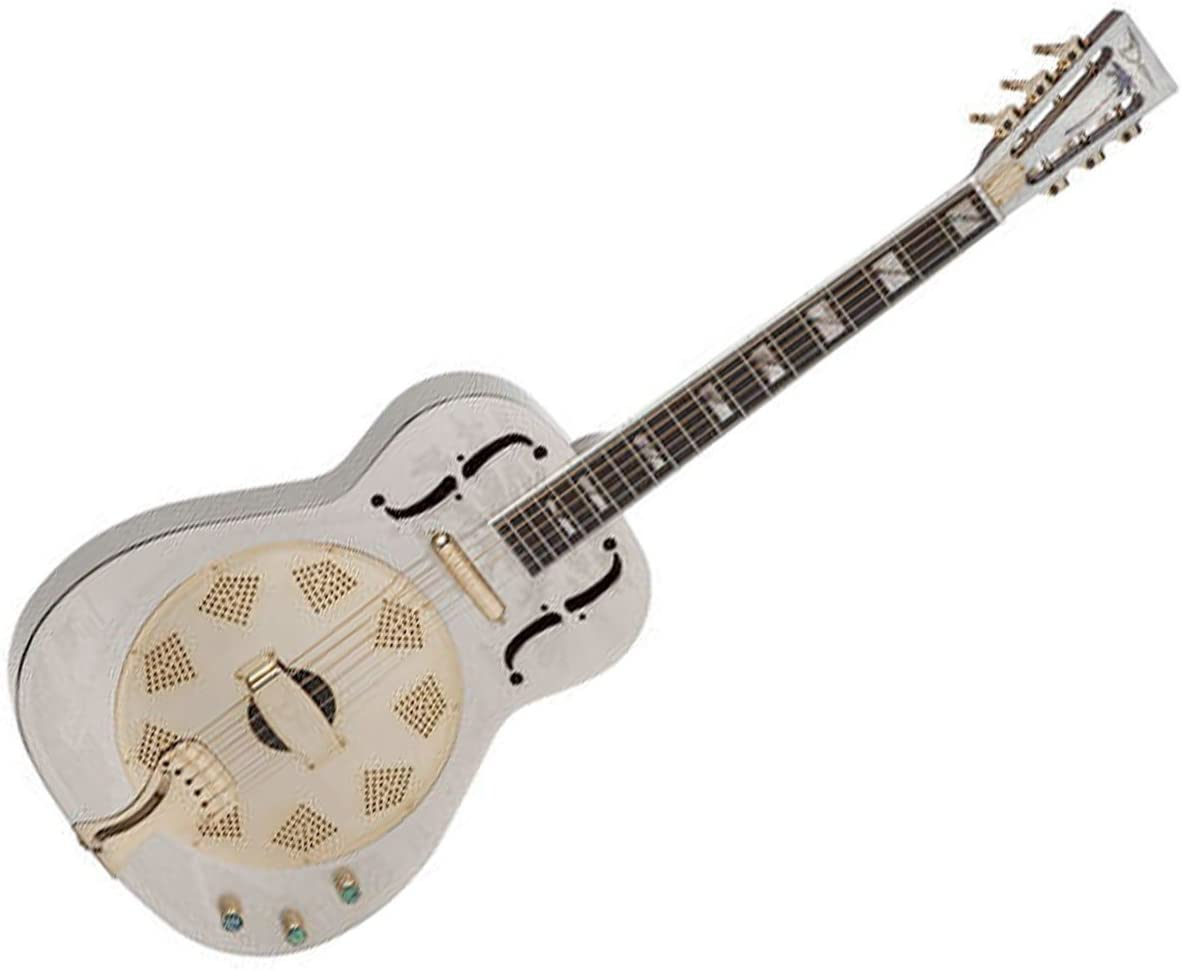 Dean Resonator Chrome/Gold Thin Body Electric Resonator