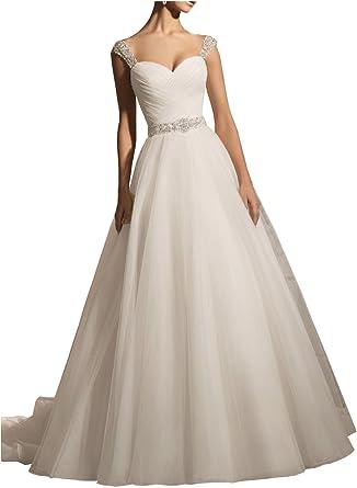 Milano Bride Elfenbein elegant Traeger Schatz Duchesse-linie Damen  Hochzeitskleider Brautkleider Brautmode Hof-schleppe