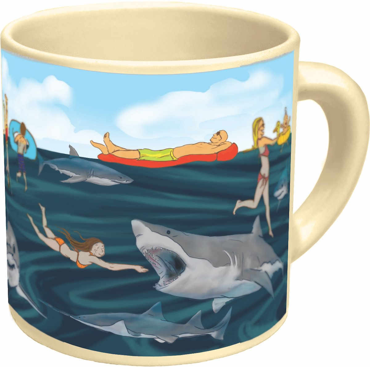 Amazoncom Shark Heat Changing Mug Add Coffee or Tea and Sharks