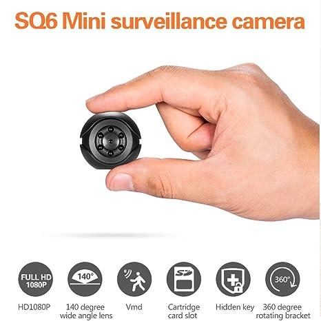 WEISHAZI Mini Cámara SQ6 Full HD 1080P Visión Nocturna DV DVR Detección De Movimiento Sensor De