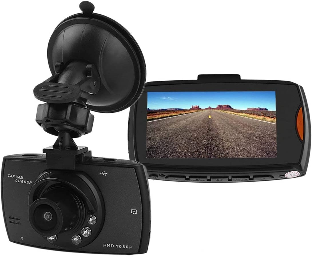 1080P 2.7TFT LCD fotocamera per auto Full HD Dash Cam Crash DVR Videoregistratore digitale Night Vision Camcorder Car Equipment nero