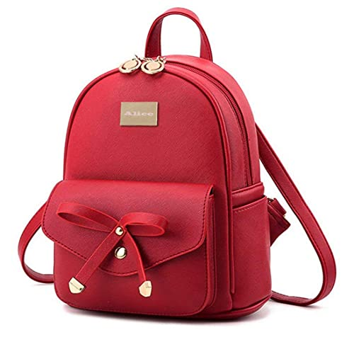eb4b21fd6791 Redlicchi Cute Mini PU Leather Backpack Fashion Small Daypacks Purse for  Girls and Women  Amazon.in  Shoes   Handbags