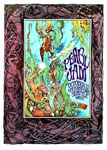 Pearl Jam Fan Poster Honors 1st Show Off Ramp Cafe Seattle
