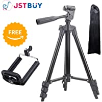 Jstbuy JBTPD-3120A 105 cm Long Light Weight Tripod for All iPhone & Smartphone, Digital Camera (Black)