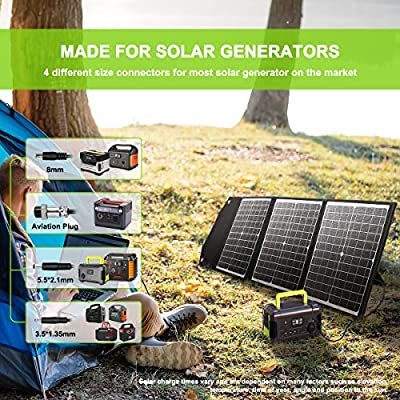 PAXCESS 120W Portable Solar Panel for Jackery Solar Generator/Rockpals Power Station/Goal Zero Yeti with USB QC 3.0, Typc C Output, Off Grid Solar Charger for Camping Travel Emergency Backup CPAP : Garden & Outdoor