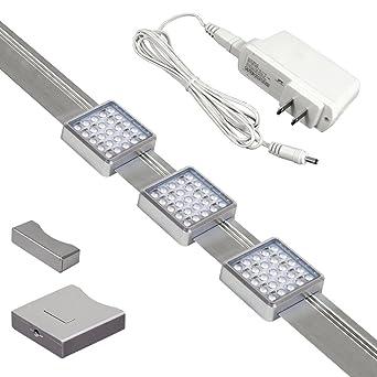 Jesco Orionis 3 Light LED Track Kit  Silver  3 ft. Jesco Orionis 3 Light LED Track Kit  Silver  3 ft   Plug In Track