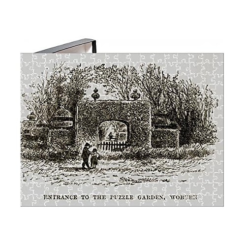 Media Storehouse 252 Piece Puzzle of Puzzle Garden Entrance, Woburn, England Victorian Engraving (14617392) - Engraving England Antique