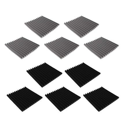 Sharplace 10pcs Paneles Acústicos de Prueba de Sonido Acústico Estudio Nosie Amortiguador Espuma