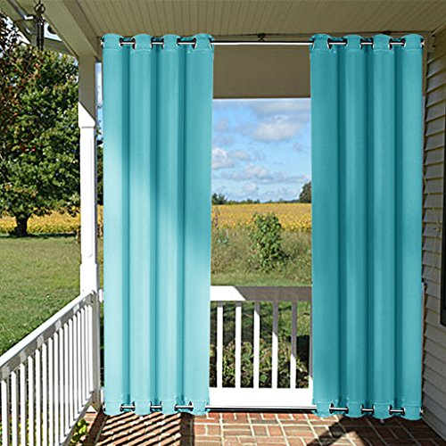 Cheap  Front Patio Outdoor Curtain Panel - NICETOWN Thermal Insulated Windbreak Top and..