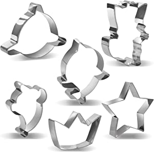 Baby Cute Shark Cookie Cutters Party Supplies Kids Party Decorations-6PCS
