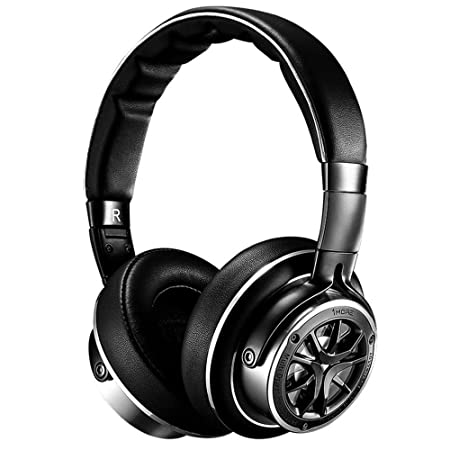 1MORE Triple Driver Over-Ear Headphones Comfortable Foldable Earphones with Hi-Res Hi-Fi Sound, Bass Driven, Tangle-Free Detachable Cable for Smartphones Android PC Tablet – Silver Titanium