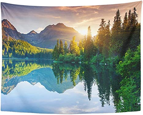 View from the Park Scenic Cotton Woven in USA Wall Hanging Tapestry