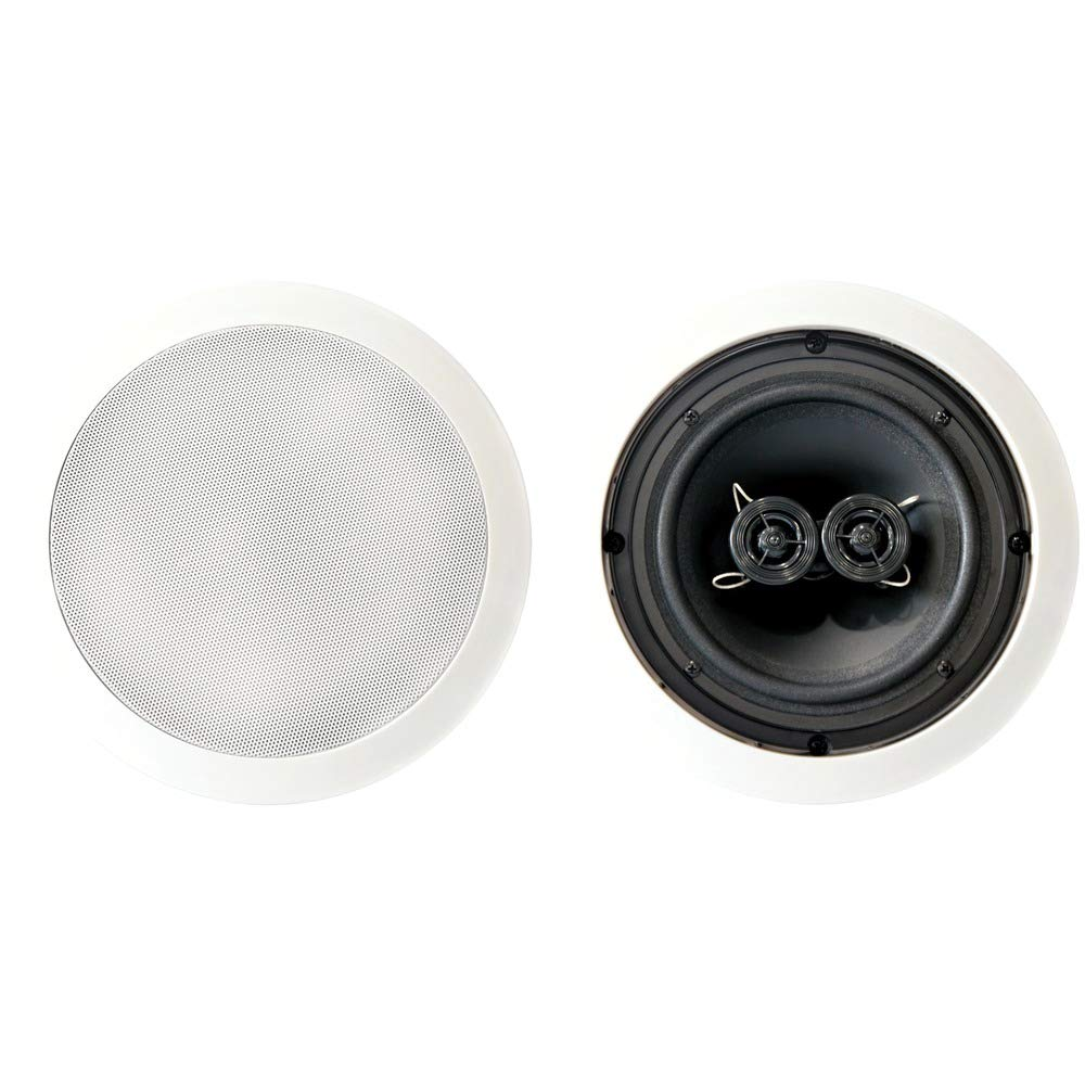 BIC America MSR6D DUAL VOICE COIL IN-CEILING SPEAKER TWIN-ANGLED TWEETERS 6.5IN WOOFER by BIC America by BIC America B00R3HQCZK