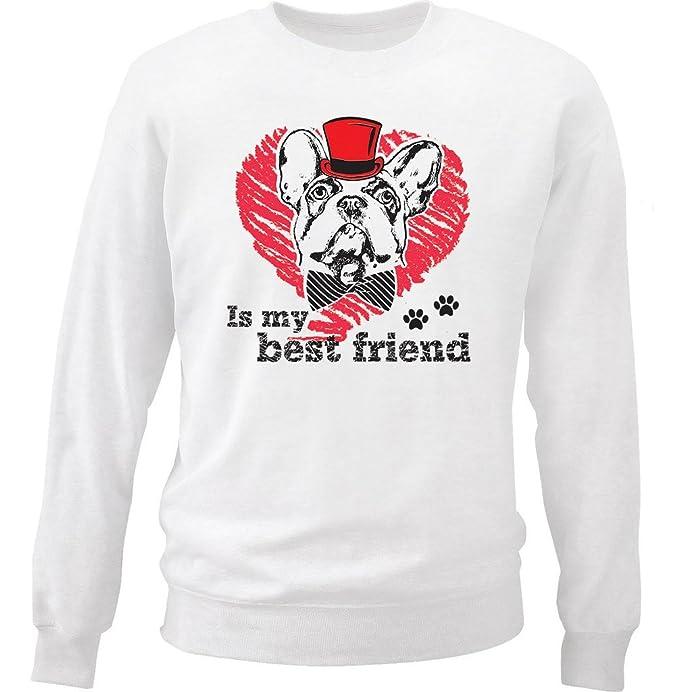 teesquare1st Boston Terrier IS MY Best Friend Sudadera: Amazon.es: Ropa y accesorios