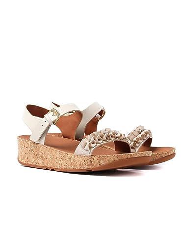 a7320339c09 Fitflop Women s Ruffle Back-Strap Sandals - Cream  Amazon.co.uk ...