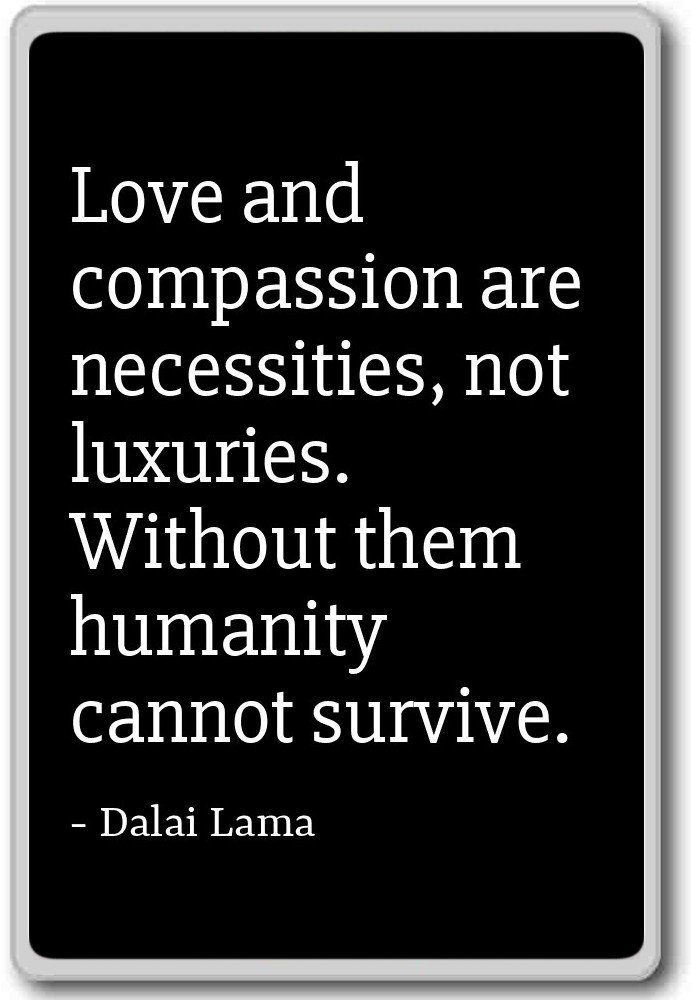 Amazoncom Love And Compassion Are Necessities Not Luxurie