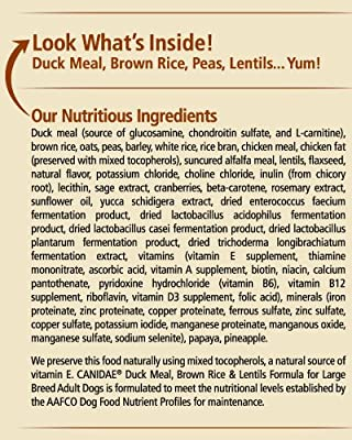 Canidae Life Stages Duck Meal, Brown Rice & Lentils Formula For Large Breed Adult Dogs