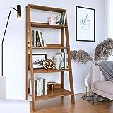 Estante para Livros Escada 4 Prateleiras Tok Yescasa Noce Milano