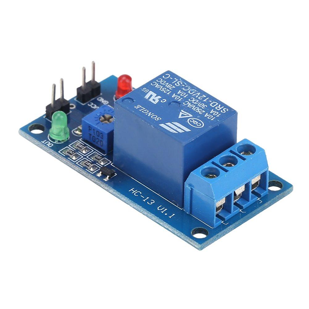 amazingdeal 12/V gotas hojas Sensor de humedad m/ódulo de rel/é interruptor para Arduino