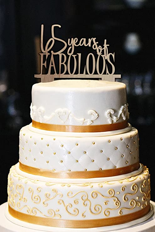 Amazon.com: Decoración para Tarta para 65 años de Fabulous ...