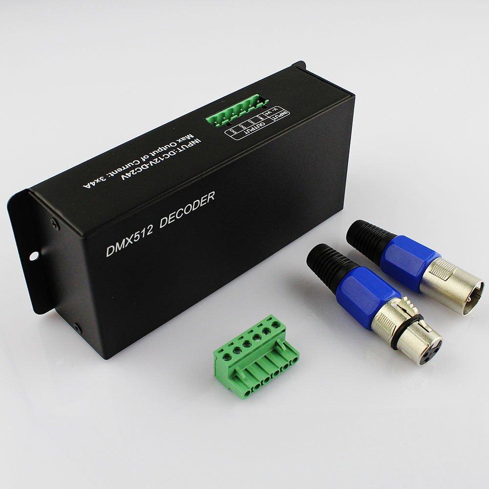 LEDJump DMX512 4A 3 Channels Decoder Controller Dimmer for RGB LED Light Strip DC12V-24V DMX 512 by LEDJUMP (Image #1)