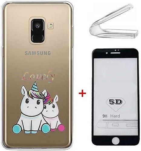 Funda Samsung Galaxy J6 2018 Ttimao Ultra-Delgado Transparente Suave Flexible TPU Silicona Cubierta [Película de Cristal Templada] Anti-Shock Anti-Scratch Funda Protectora-Amantes Unicornio: Amazon.es: Electrónica