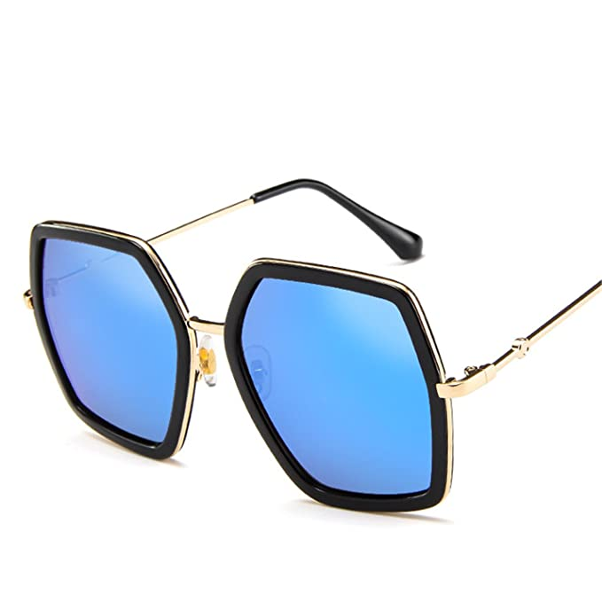 20ab067b1df Image Unavailable. Image not available for. Color  2018 Square Sunglasses  Women Brand Designer Vintage Retro Big Frame ...
