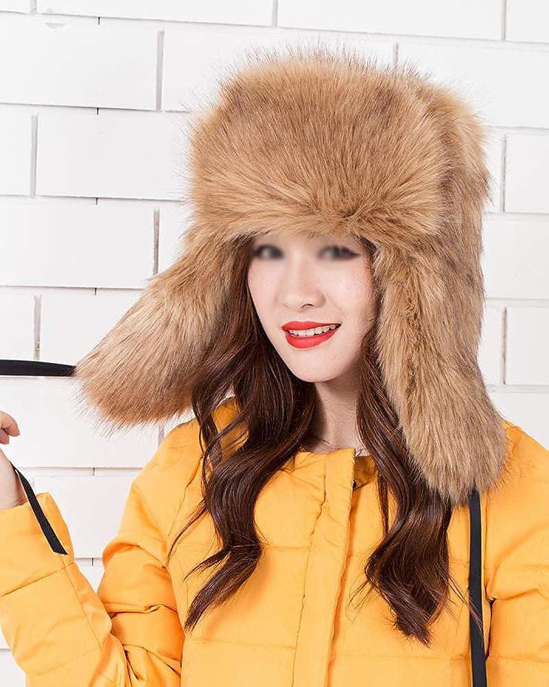DianShaoA Chapeau Chapka Russe Fausse Fourrure Cache Oreilles Chapeau De Ski Femme