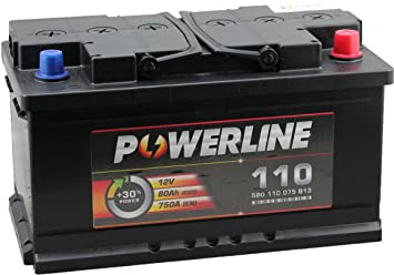 110 Powerline Car Battery 12v 80ah Amazon Co Uk Car Motorbike