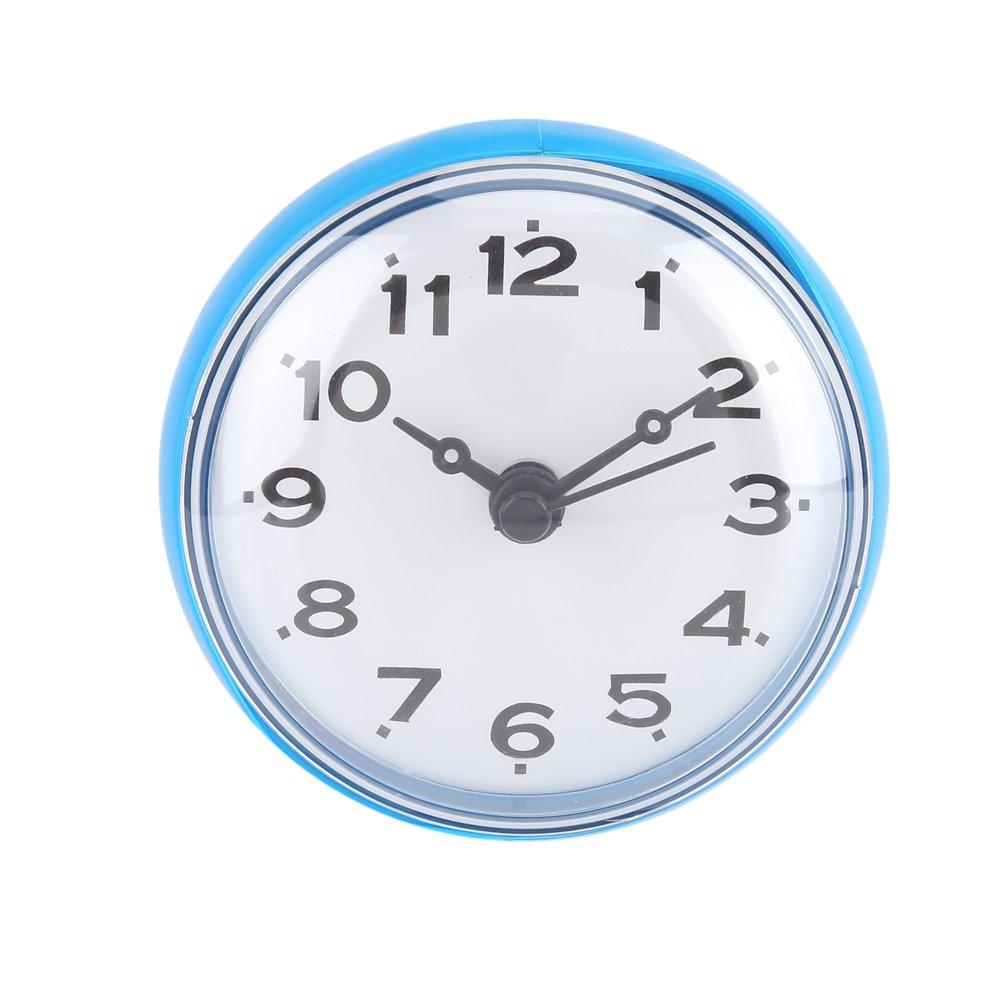 Impermeabile orologio con ventosa doccia tondo orologio quadrante digitale per bagno doccia bagno cucina di Arabica banduhr montaggio a parete, verde YOSOO