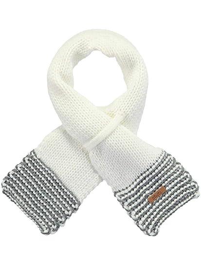 790969ec8f4c BARTS - Echarpe Naissance en Maille Blanc bébé Fille du 0 au 18 Mois   Amazon.fr  Vêtements et accessoires