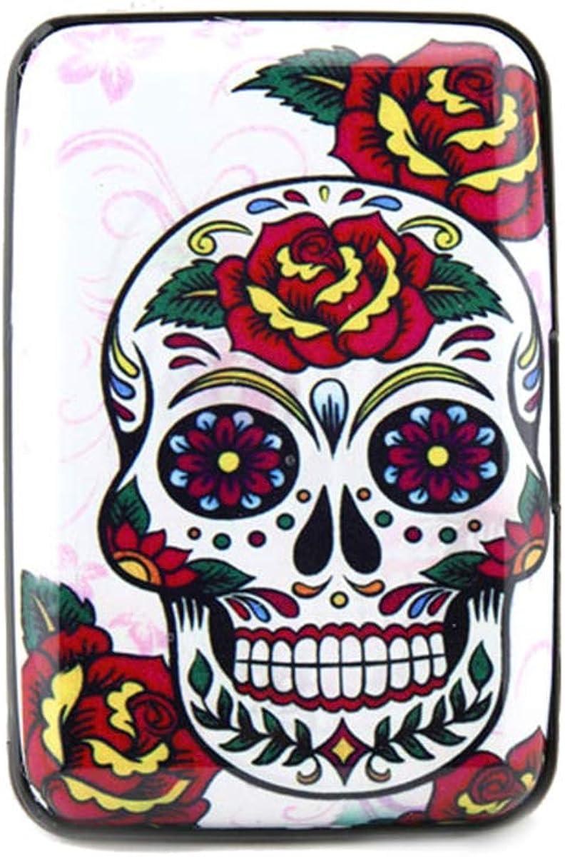 Sugar Skull Day Of The Dead Card Holder Dia De Los Muertos Skull Gifts