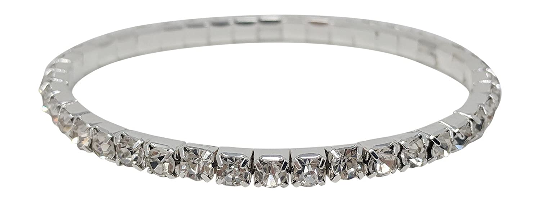 SIMPLICHIC Rhinestone Stretch Bracelet Gold-Tone Silver-Tone UP UKBR-2550SC