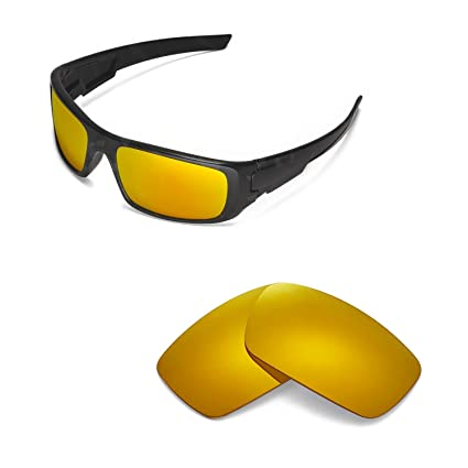 7695a791f1 Walleva Replacement Lenses for Oakley Crankshaft Sunglasses - Multiple  Options Available (24K Gold Mirror Coated