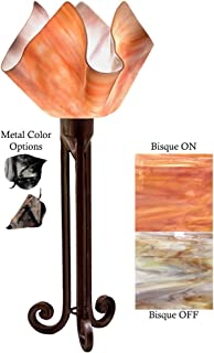 product image for Jezebel Radiance Torch Light. Hardware: Brown with Brown Highlights. Glass: Bisque, Flame Style