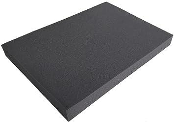 Cojines de espuma para asiento (50 x 35 x 4,5 cm), multifuncional Cantidad: 1 negro