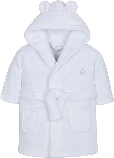 Lora Dora Baby Girls Hooded Fleece Dressing Gown Grey Elephant 12-18 Months