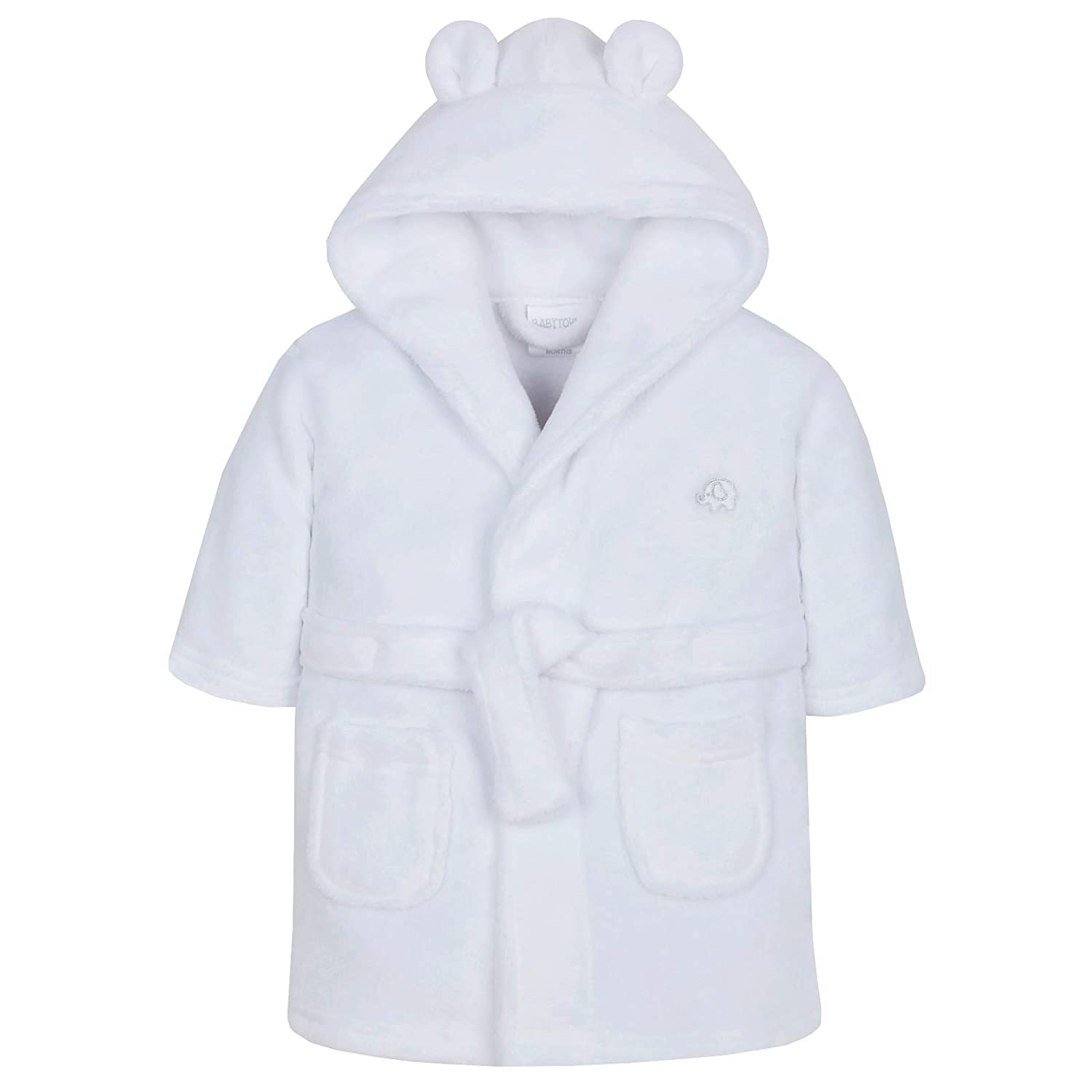 Lora Dora Baby Jungen Kapuzen Fleece Bademantel Soft Bademantel Gr/ö/ße 6 24/ Monate