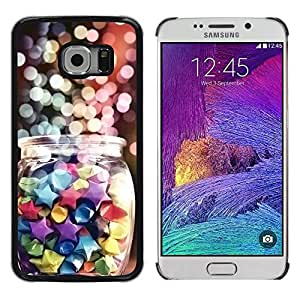 Exotic-Star ( Holidays Winter Sweets Colorful ) Fundas Cover Cubre Hard Case Cover para Samsung Galaxy S6 EDGE / SM-G925 / SM-G925A / SM-G925T / SM-G925F / SM-G925I