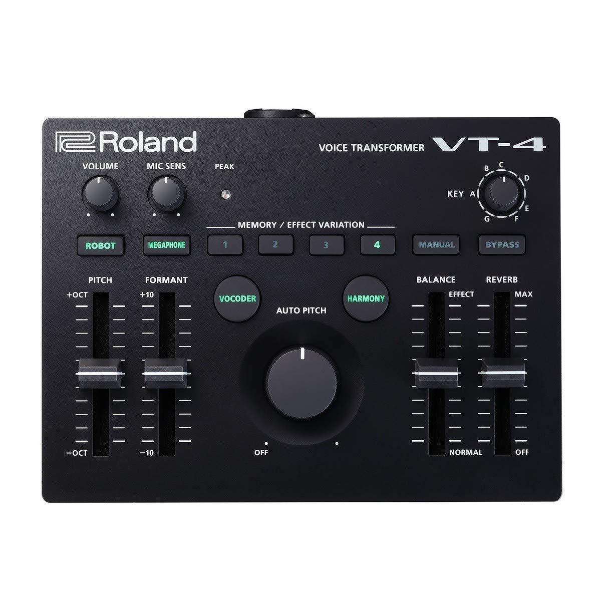 Roland VT-4 Voice Transformer Vocal Effects Processor Bundle with Audio-Technica AT2020 Cardioid Condenser Microphone, Blucoil 10-Ft XLR Balanced Cable, 4 AA Batteries and 5 Pack of Cable Ties by blucoil (Image #2)