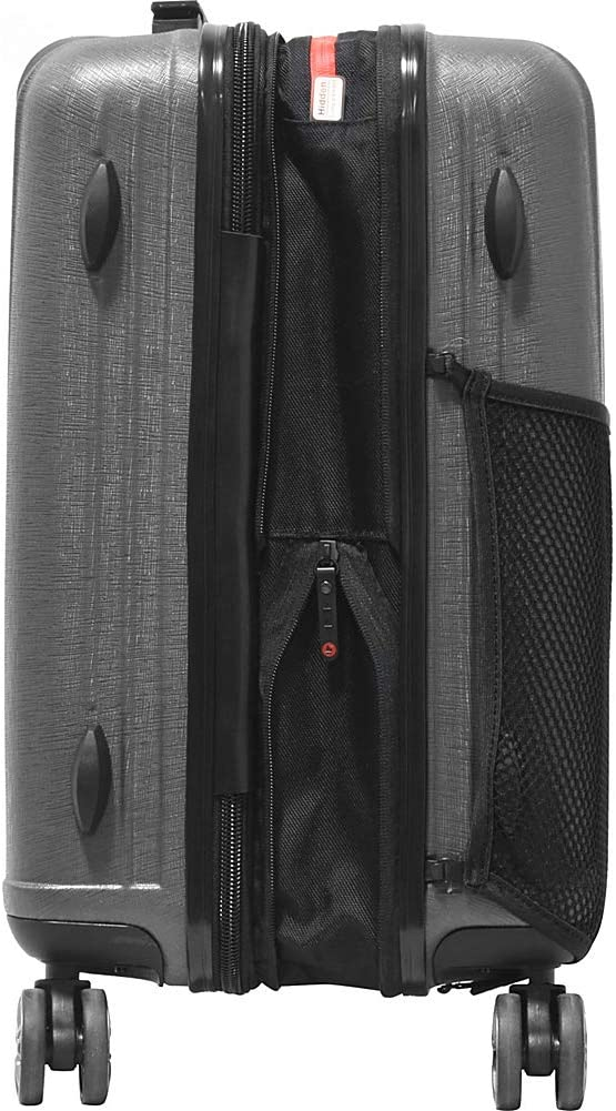Wine Olympia USA Sidewinder 21 Inch Expandable Hardside Carry-on Spinner