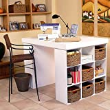 Venture Horizon Project Center With 2 Bookcases - White