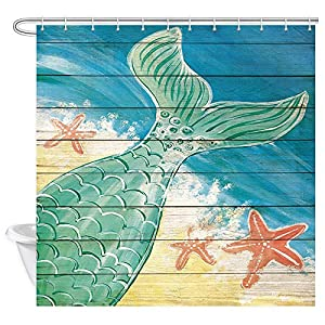 61NPcykEmeL._SS300_ 200+ Beach Shower Curtains and Nautical Shower Curtains